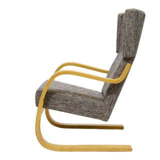 Alvar Aalto Model 36/ 401 High Back Lounge Chair For Sale