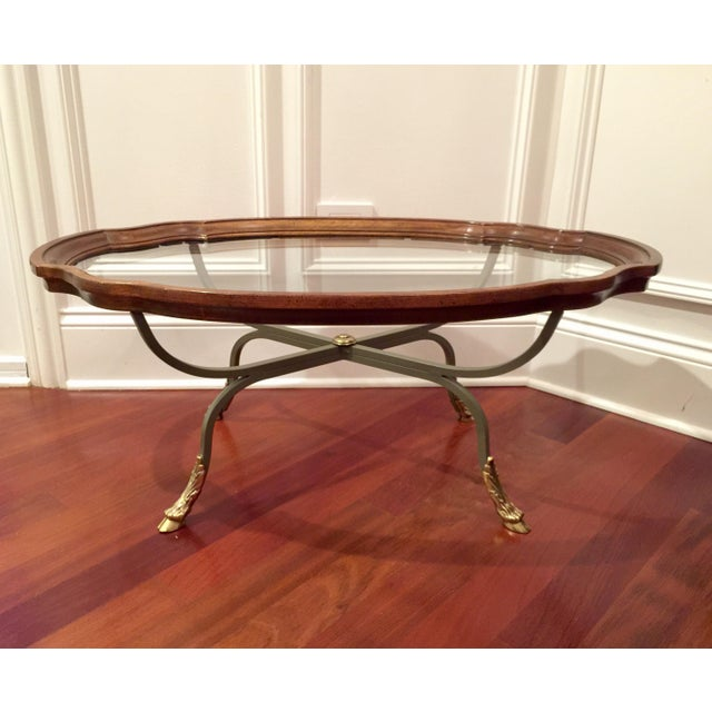 Metal 1990s American Classical Drexel Heritage Claw Foot Coffee Table For Sale - Image 7 of 7