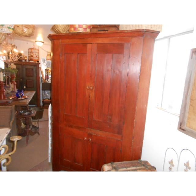 Mid 19th Century 19th Century Early American Corner Cupboard For Sale - Image 5 of 11