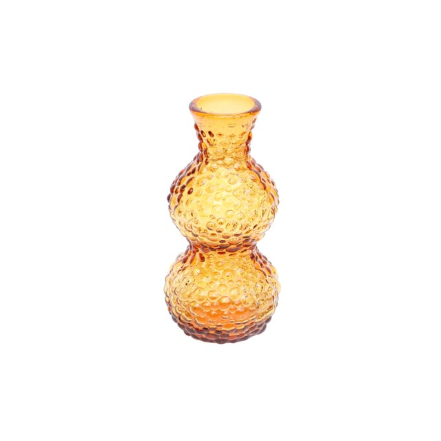 Amber Glass Vases, Set of 3 For Sale - Image 9 of 11
