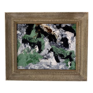 Vintage Abstract Expressionist Painting For Sale