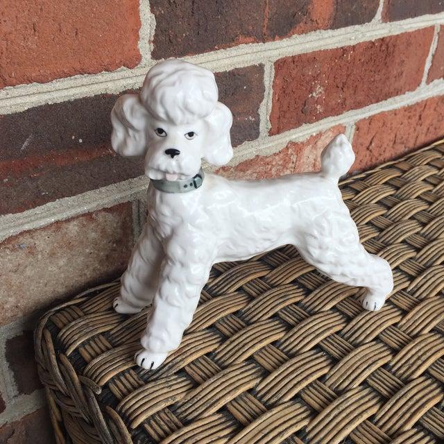 Vintage Ceramic Staffordshire Style Poodle Dog Figurine - Image 6 of 11