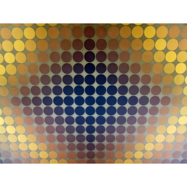 French Vasarely Op Art Lithograph For Sale - Image 3 of 6