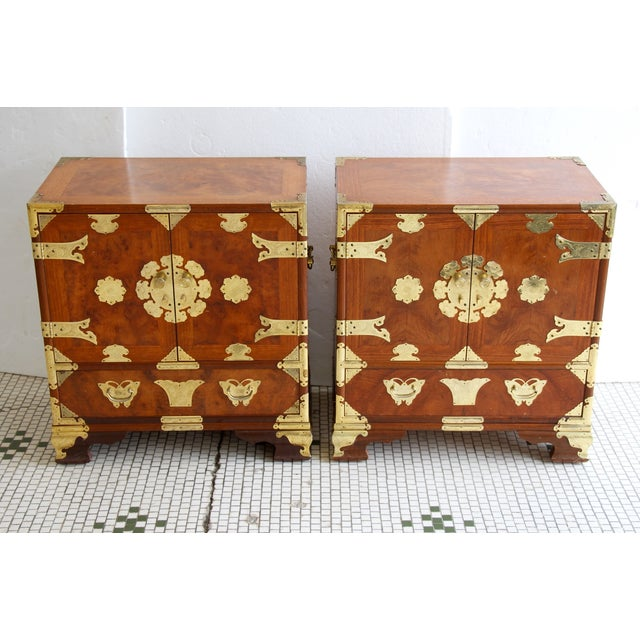 Asian-Style Butterfly Chests - Pair - Image 3 of 8