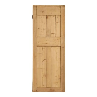 Antique Irish Stripped Pine Door For Sale