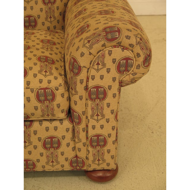 Stickley Stickley Native American Print Upholstered Club Chair For Sale - Image 4 of 11