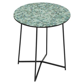 Mosaic Glass Top Table For Sale