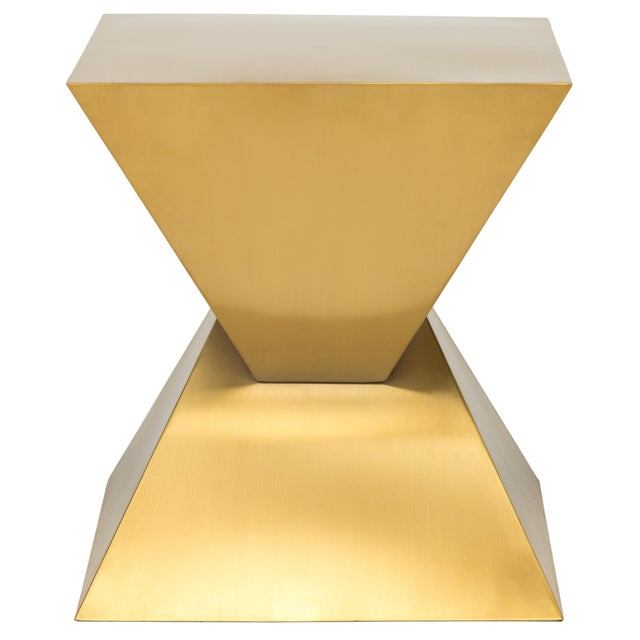 2020s Giza Steel Side Table In Gold For Sale - Image 5 of 8