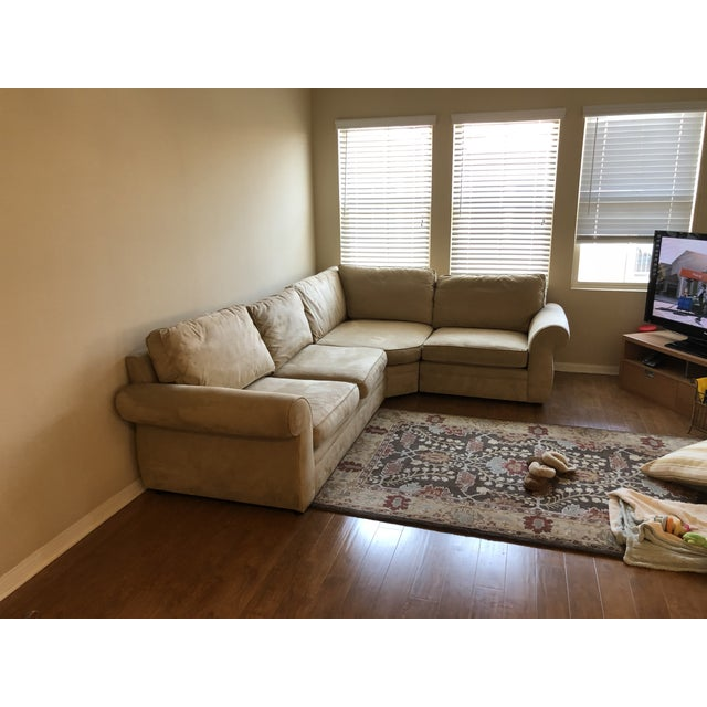 Boho Chic Pottery Barn Pearce Sectional For Sale - Image 3 of 5