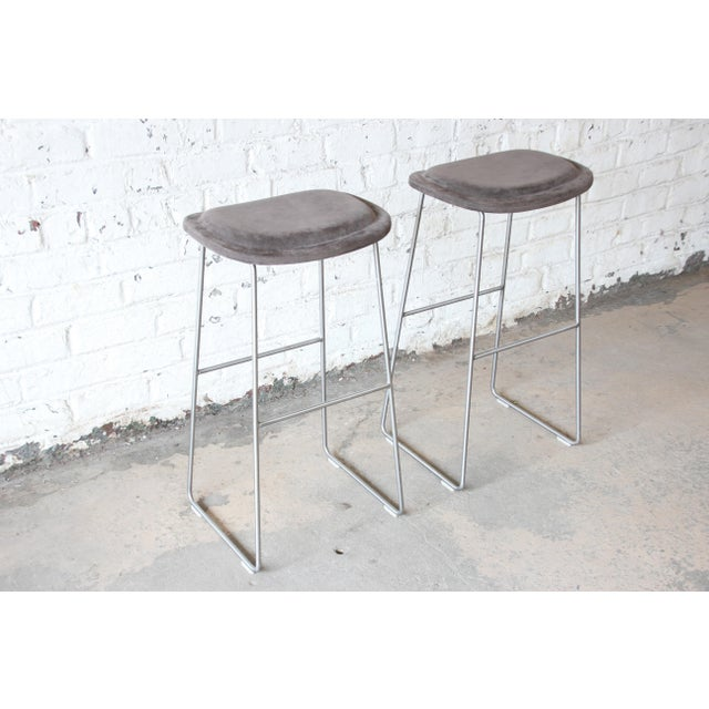 Cappellini Italian Bar Stools by Cappellini, a Pair For Sale - Image 4 of 9