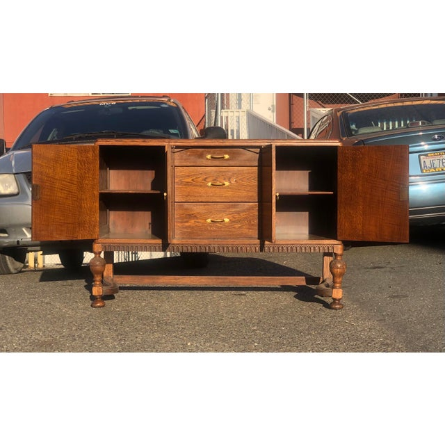 Early 20th Century 19th Century English Welsh Oak Sideboard For Sale - Image 5 of 9