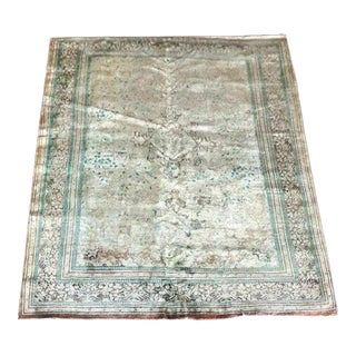 """1970s Persian Silk Rug-7'2'x10"""" For Sale"""