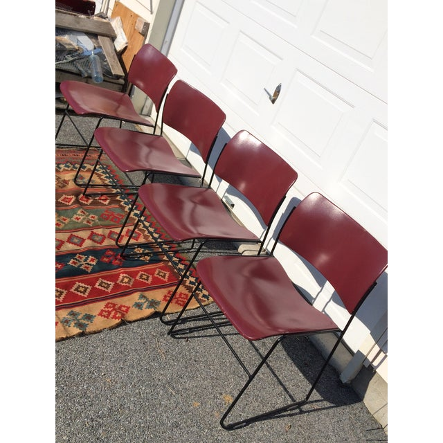 David Rowland for Rowe 40/4 Stackable Chairs- Set of 4 For Sale In Philadelphia - Image 6 of 11