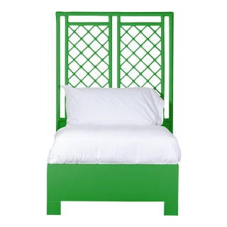 X & Diamond Bed Twin - Bright Green For Sale