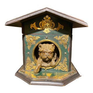 Humidor Dog House With Brass Overlays For Sale