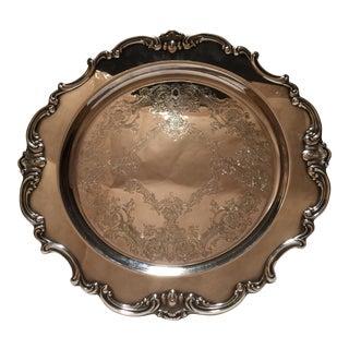 Gorham Strasbourg Silver Plated Anniversary Platter For Sale