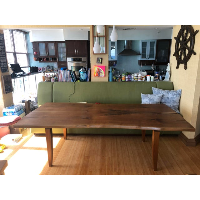 Brown Scandinavian Modern Ralph Pucci Walnut Wood Dining Table For Sale - Image 8 of 8