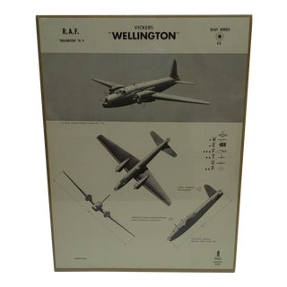 """WWII """"Vickers Wellington"""" Aircraft Recognition Poster"""