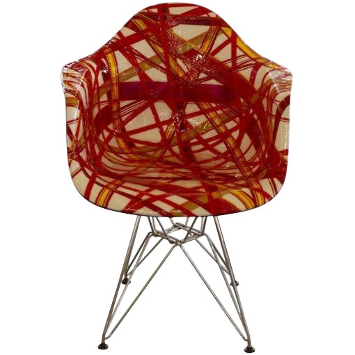 "Mauro Oliveira Decorated Chair ""Summer"" For Sale"