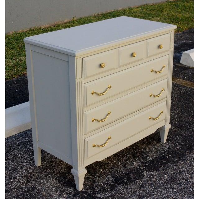 Soft Gray 4-Drawer Dresser - Image 3 of 8