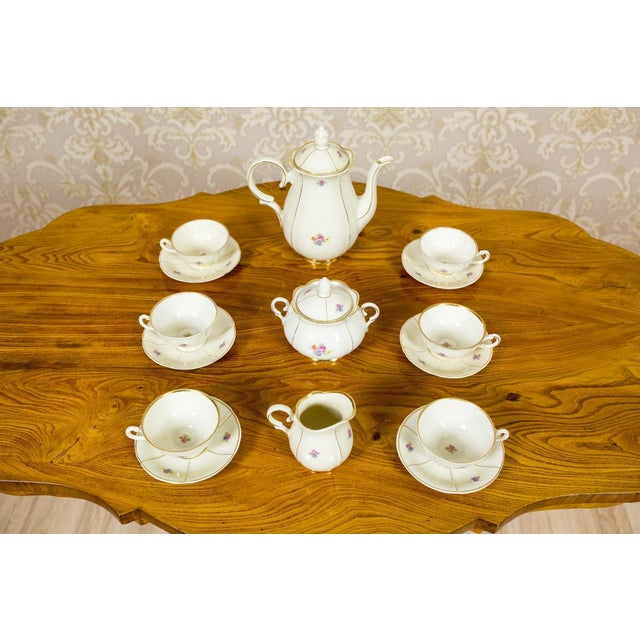 1918-1948 Karlskrona Porcelain Coffee Service for 6 - Set of 15 For Sale - Image 9 of 13