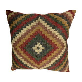 Vintage Turkish Kilim Throw Pillow
