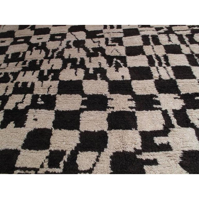 """Chessboard Boogie Woogie,"" Moroccan Berber Carpet For Sale - Image 4 of 8"