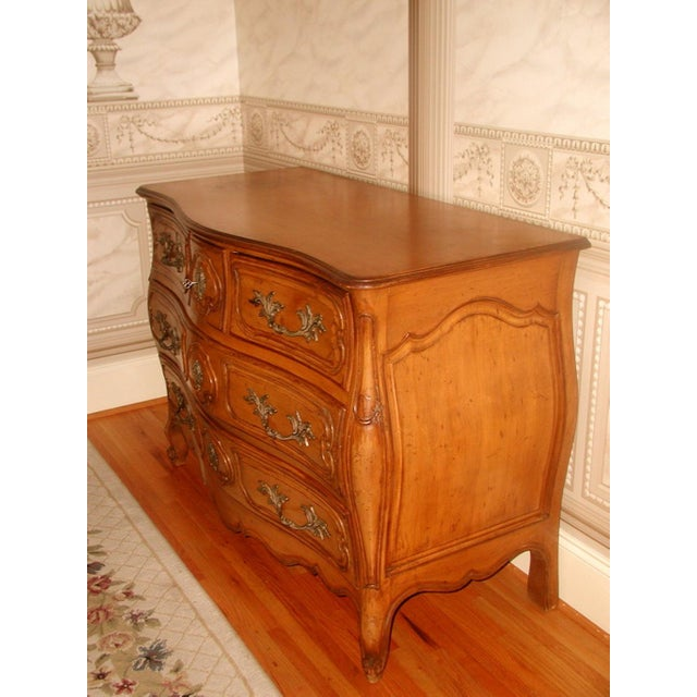 French 20th C. Five Drawer Fruitwood Chest - Image 8 of 9
