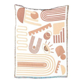 """""""Formation"""" Abstract Cotton Throw For Sale"""