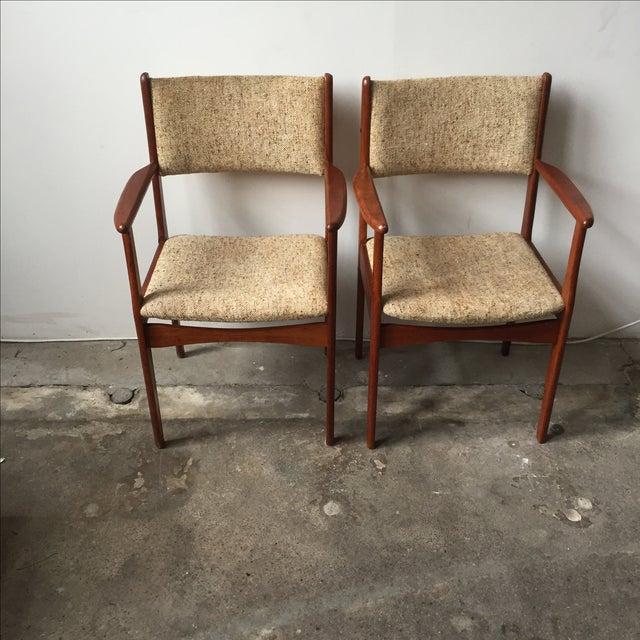 Danish Modern Teak Armchairs - A Pair - Image 3 of 10