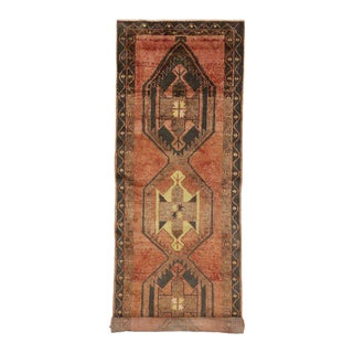 Vintage Turkish Oushak Runner with Modern Tribal Style For Sale