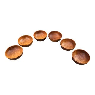 Kay Bojesen Teak Bowls - Set of 6 For Sale