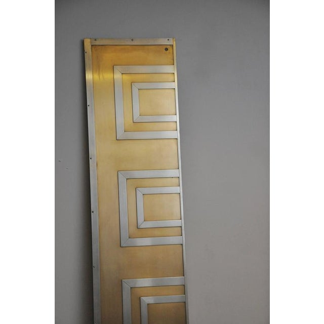Glamorous Bronze and Stainless Entry Doors For Sale In Chicago - Image 6 of 7