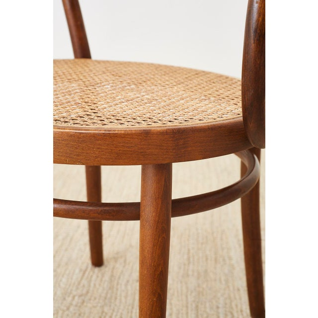 Mid-Century Modern Thonet 209 Bentwood Cane Armchairs - Set of 8 For Sale - Image 3 of 13