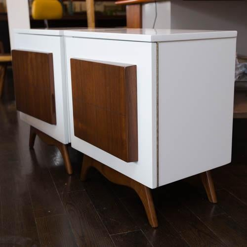 Mid-Century Modern Lacquered Nightstands - a Pair - Image 3 of 8