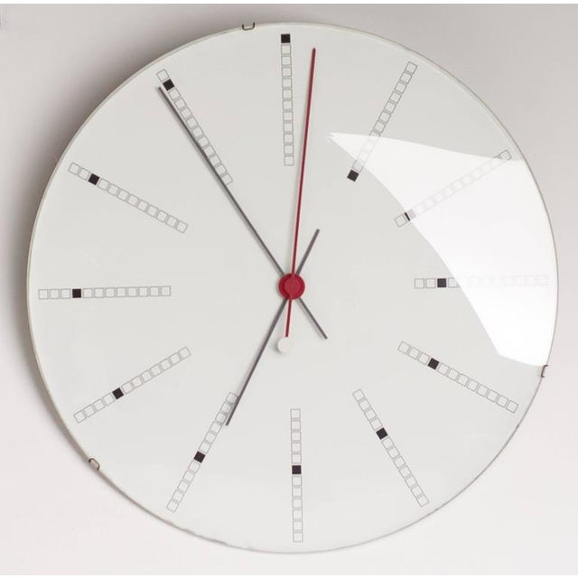 1970s Extra Large Bankers Wall Clock by Arne Jacobsen for Gefa, 1971 For Sale - Image 5 of 7