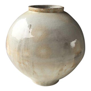 Kang Hyo Lee, Buncheong Moon Jar, 2016 For Sale