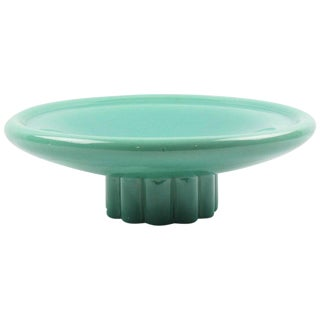 Paul Milet for Sevres 1940s Art Deco Modernist Celadon Ceramic Bowl For Sale