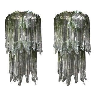 1960s Large Fiamme Sconces by Mazzega - a Pair For Sale