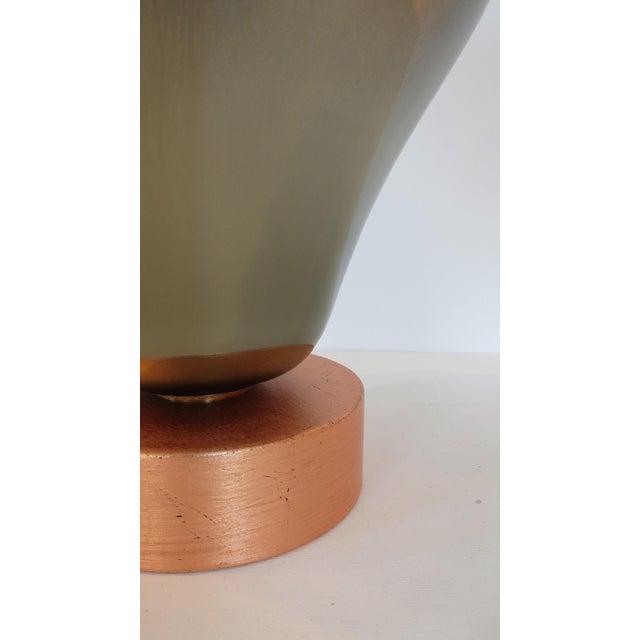 Vintage Mercury & Copper Leaf Glass Lamp - Image 7 of 9