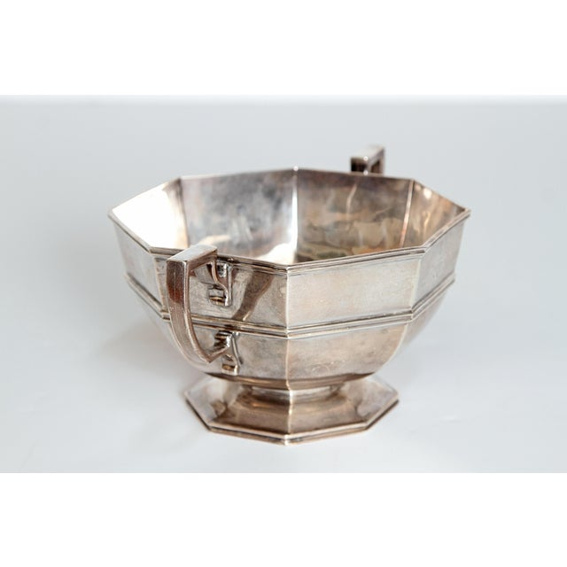 Silver Amorial Silver Pedestal Bowl / Cup by C. C. Pilling for Tiffany & Co. For Sale - Image 8 of 11