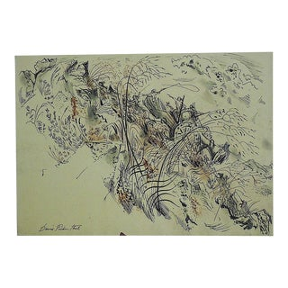 Mid 20th Century Original Signed Watercolor by D. Fredenthal For Sale