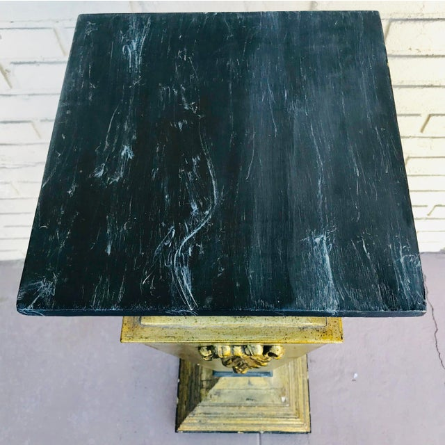 1960s 1960s Vintage Wooden Pedestal For Sale - Image 5 of 8