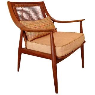 1960s Vintage John Stewart for Widdicomb Caned Back Armchair For Sale