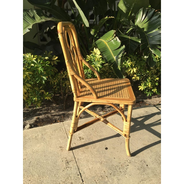 Vintage Cane Bent Rattan Chair For Sale - Image 4 of 5