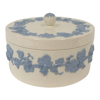 Wedgwood Queensware Covered Candy Dish For Sale