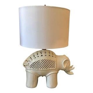 Italian Ceramic Elephant Table Lamp