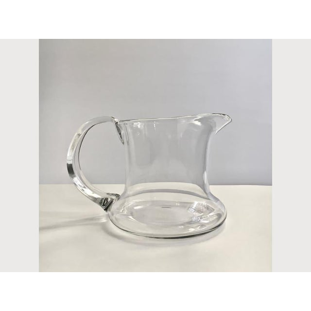 Scandinavian Modern Hand Blown Clear Glass Pitcher For Sale In New York - Image 6 of 7