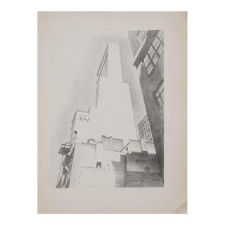 "Charles Sheller ""Delmonico Building"" Lithograph, 1939"