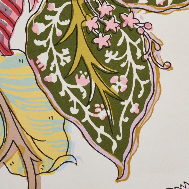 Contemporary Sample- Schumacher Indian Arbre Wallpaper in Spring For Sale - Image 3 of 6